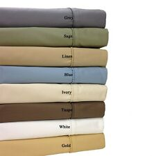 Cotton Blend Wrinkle Free Sheets 650 Thread Count Solid Sheet Set