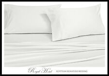 Cotton Blend Wrinkle Free Sheets 650 Thread Count White Sheet Set