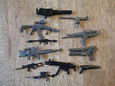 Lot of 11 VINTAGE ACTION FIGURE ACCESSORIES GI JOE WEAPONS G I GUN RIFLES COMBAT