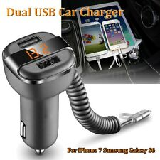 Universal 5V 3.4A Dual USB 2 Port Car Charger LED Display For iPhone 7 Samsung