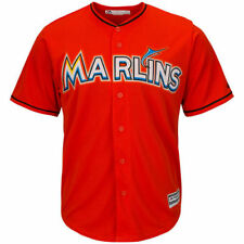 Miami Marlins Majestic Youth Official Cool Base Jersey - Orange - MLB