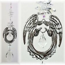 GUARDIAN ANGEL CRYSTAL SUNCATCHER large gift, easter religious mother gifts
