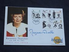 edFirst Day Cover WOMEN of ACHIEVEMENT Signed by MARGARET THATCHER