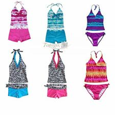 Kids Girl Halter Bikini Tankini Swimwear Swimsuit Beachwear Bathing Clothes
