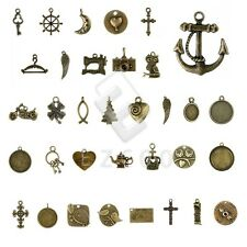5-250pcs Antique Brass Spacer Pendant Charm Jewelry Findings 37 style Lots HC