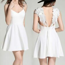 Hot Women's Fashion Sexy Backless Wings Mini Sling Dress Summer Party Club Dress