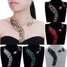 Fashion Jewelry Chain Charm Crystal Collar Choker Statement Pendant Bib Necklace