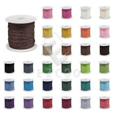 80M 0.8/1/1.5/2mm Waxed Cotton Cord Thread Beading Jewelry Making Leathercraft