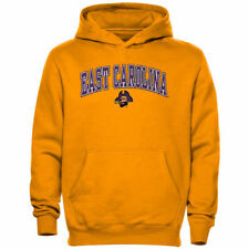 East Carolina Pirates Youth Midsized Pullover Hoodie - Gold - NCAA
