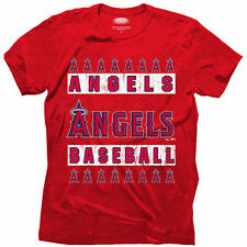 Los Angeles Angels Majestic Threads Mens Triblend  T-Shirt - Red