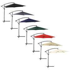 Bentley Garden 3M Hanging Banana Patio Garden Umbrella Parasol - Various Colours