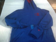 NWT youth Champion polyester hooded sweatshirt, youth XL, Double Dry, royal blue