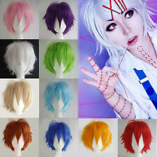 Cosplay Unisex Anime Full Wigs Short Hair Heat Resistant Synthetic Wig Fashion