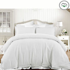 Grand Atelier WHITE Hotel 100% Cotton Waffle Quilt Doona Cover set - QUEEN KING