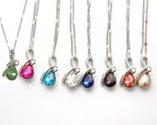 9 Style Women's Fashion Jewelry Eternal Love Teardrop Crystal Pendant Necklace