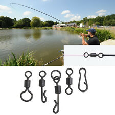50Pcs Carp Fishing Swivel Long Body Rolling Fishing Swivels Fishing Tackle Box