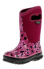 "Bogs Boots Girls Kids 10"" Classic Leopard Waterproof Rubber 71561"