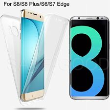 Shockproof 360°TPU Gel Protective Clear Case Cover For Samsung Galaxy S7 Edge S8