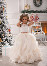 Flower Girl Dress Wedding Birthday Communion Ball Gown Pageant Party Prom 2-14