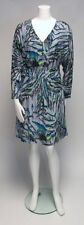 Guess Grey Long Dolman Sleeve Print Above Knee Dress Sz  14 NWT