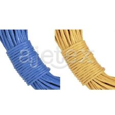 20M Waxed Cotton Wire Cord Jewelry Findings Bracelet Necklace 1x1mm Blue Yellow