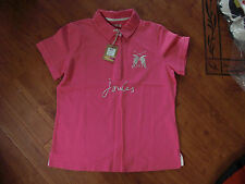 BNWT LADIES JOULES BEAUFORT CLASSIC FIT NEON CANDY POLO TOP SHIRT SIZE 14.