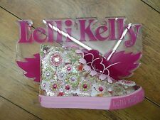 NEW Lelli Kelly Candy Gold Beaded Jewelled Flowers Girls Lace Up Baseball Boots
