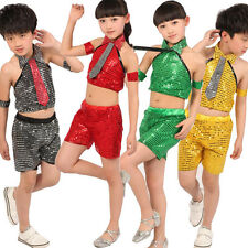 Children' sModern jazz dancing dress girl Ballroom dance wear Hip hop Costumes