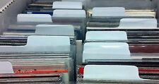 CD Divider Cards Narrow White Plastic Index Tabs 5 10 15 20 25 50 75 100 150 200