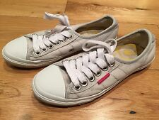 SUPERDRY Converse Style Trainers in Grey/White SIZE 4 **EXCELLENT CONDITION**