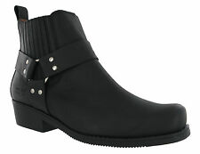Johnny Bulls 4809 Cowboy Western Unisex Leather Pull On Ankle Boots UK3-12