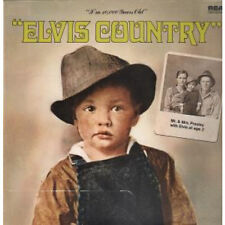 ELVIS PRESLEY Elvis Country LP VINYL German Rca 1983 12 Track Reissue (Nl83956)