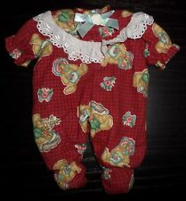 """DAISY KINGDOM DOLL 12"""" FOOTED FLANNEL PAJAMAS DOLL OUTFIT"""