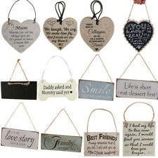 Retro Style Wooden Board Hanging Plaque Gift Sign Wall Door Home Decor