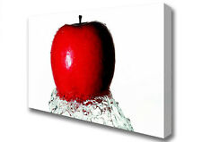 Apple Wave Large Kitchen Canvas Print XL (B1 26x40 inch) 05753