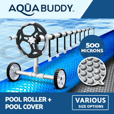 Solar Swimming Pool Cover Roller 500 Micron Bubble Blanket 5 SIZES 2 YR WRTY