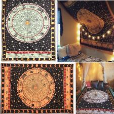 Ombre Star Indian Mandala Hanging Wall Tapestry Throw Cover Bohemian Bedspread