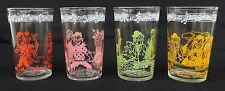 Lot of 4 Howdy Doody Welch's Jelly Jar Glasses/Tumblers Dated 1953
