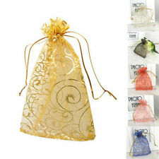 Wedding Party Organza Candy Bags Jewelry Gift Favor Pouch Sheer Decor Pouches