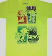 Sonic the Hedgehog T-shirt Size XS S M L New Childs 8 10 12 14 16 18 20 Yellow