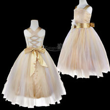 Flower Girls Communion Party Prom Ball Gown Pageant Bridesmaid Wedding Dresses