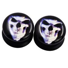 "1Pair Flesh Tunnel Gauge 2g-5/8"" Acrylic Skeleton Punk Ear Flesh Tunnel Plug"