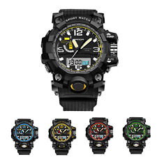 Multifunction Men Waterproof Digital LED Alarm Sport Date Silicone Wrist Watch