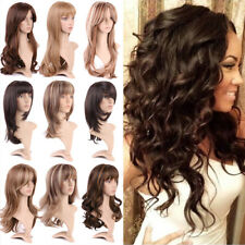 Fashion Ladies Women Full Wig Long Hair Curly Wavy Straight Daily Synthetic Wigs