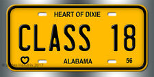 Alabama  License Plate Vintage Custom Vanity Personalized Aluminum 1956 to 1967