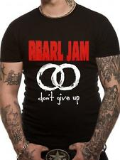 Pearl Jam T Shirt Never Give Up Official Black Mens Tee Classic Rock Don't
