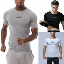 New Mens Uabrav Compression Under Base Layer Tops Tight Gym Sport Cycling Shirts