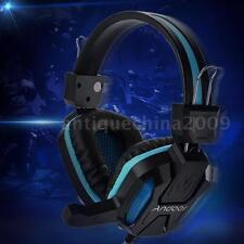 3.5mm Over-Ear Stereo Gaming Headphone LED Light Headset w/ Mic for Laptop Y8M3