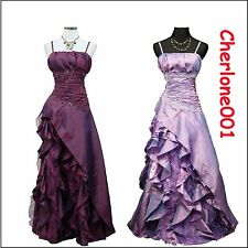 Cherlone Plus Size Purple Ball Lace Formal Long Bridesmaid Wedding/Evening Dress