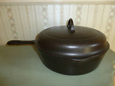 SUPER NICE # 8 GRISWOLD CAST IRON ROASTER / CHICKEN FRYER #777B LID # 1098 C